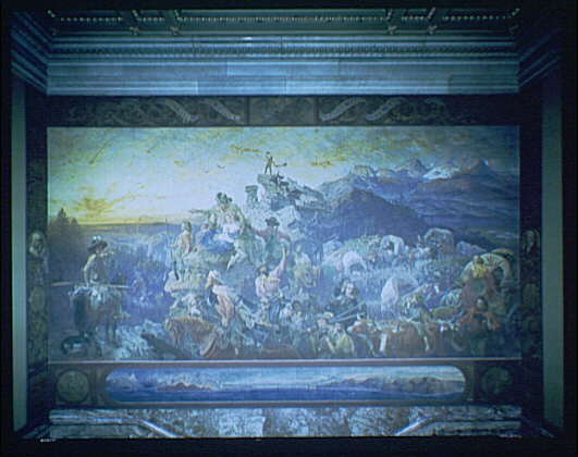 U.S. Capitol paintings. Westward expansion, by Immanuel Leutze, 1862, painting in U.S. Capitol