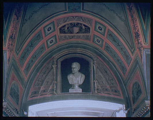 U.S. Capitol paintings. Bust of Livingston fresco in U.S. Capitol I