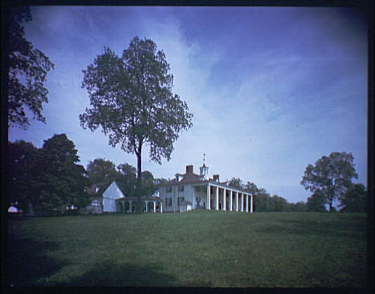 Mount Vernon. View of Mount Vernon mansion X