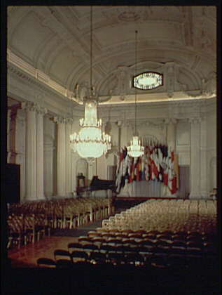 Pan American Union Building. Auditorium in Pan American Union Building