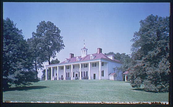 Mount Vernon. View of Mount Vernon mansion III