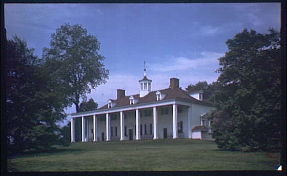Mount Vernon. View of Mount Vernon mansion IV
