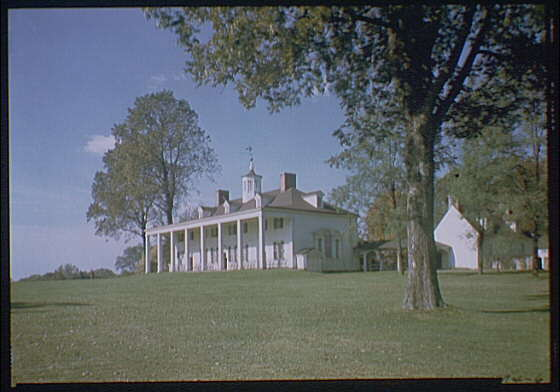 Mount Vernon. View of Mount Vernon mansion VII