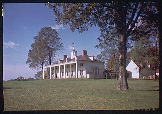 Mount Vernon. View of Mount Vernon mansion VIII