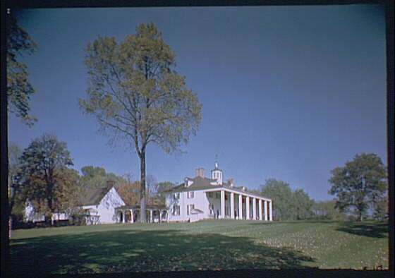 Mount Vernon. View of Mount Vernon mansion XIV