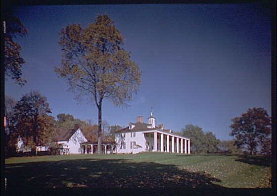 Mount Vernon. View of Mount Vernon mansion XVI