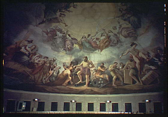 U.S. Capitol paintings. Vulcan fresco in U.S. Capitol II