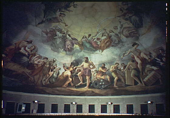 U.S. Capitol paintings. Vulcan fresco in U.S. Capitol III