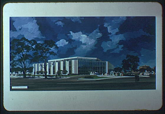 A.R. Clas buildings. Insurance building in color