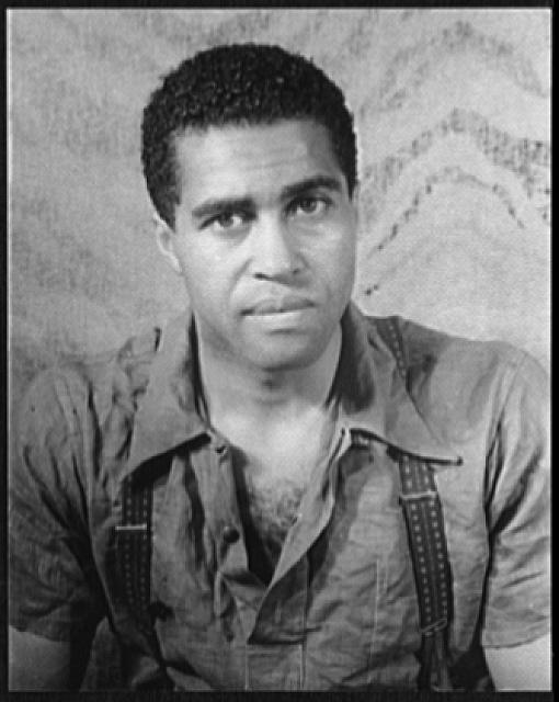 [Portrait of Earl Jones, in Langston Hughes' Don't You Want to be Free?]