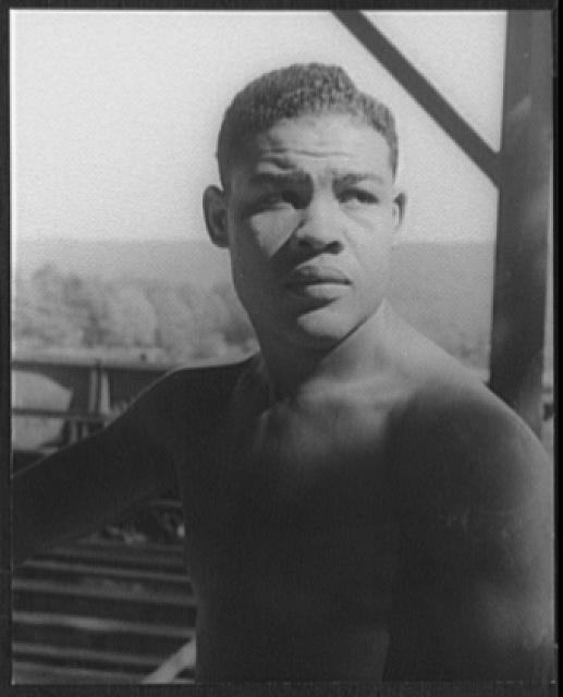 [Portrait of Joe Louis, Greenwood Lake, N.Y.]