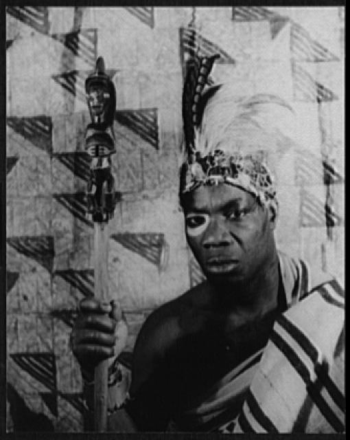 "[Portrait of Turquese, as Chief Burah, the king in ""Kykunkor""]"