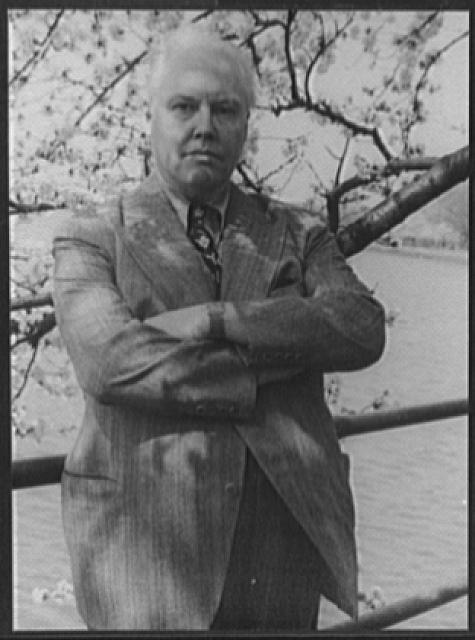 [Portrait of Carl Van Vechten, Washington, D.C., with Japanese cherry blossoms]