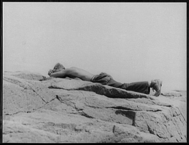 [CCC boy, asleep, Bar Harbor, Mt. Desert Island, Maine]