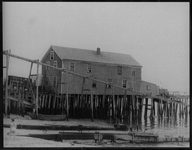 [Original Provincetown Theatre where O'Neill plays were first presented; wharf in Provincetown, Massachusetts]