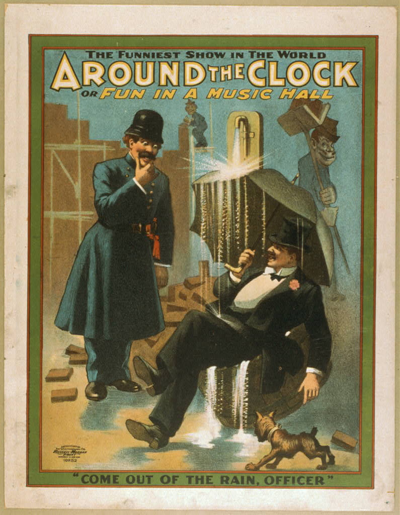 Around the clock, or Fun in a music hall the funniest show in the world.
