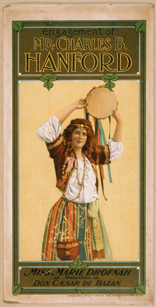 Miss Marie Drofnah as Mariatana in Don Caesar de Bazan