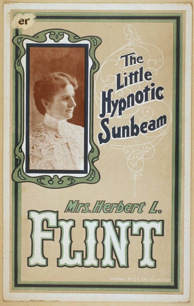 Mrs. Herbert L. Flint the little hypnotic sunbeam.