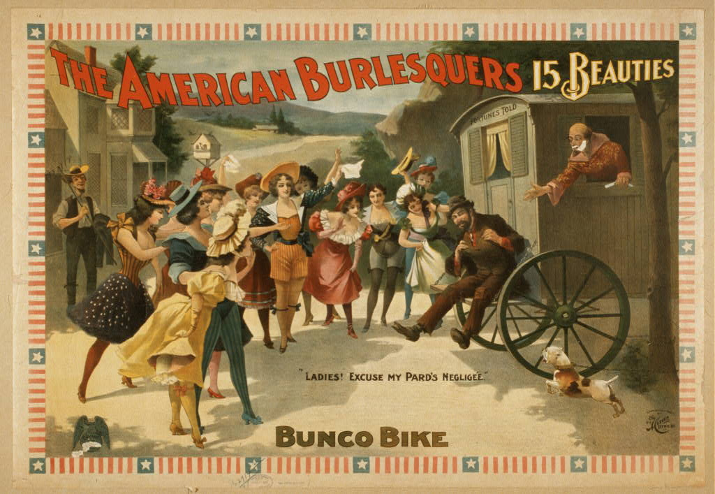 The American Burlesquers 15 beauties : Bunco bike.