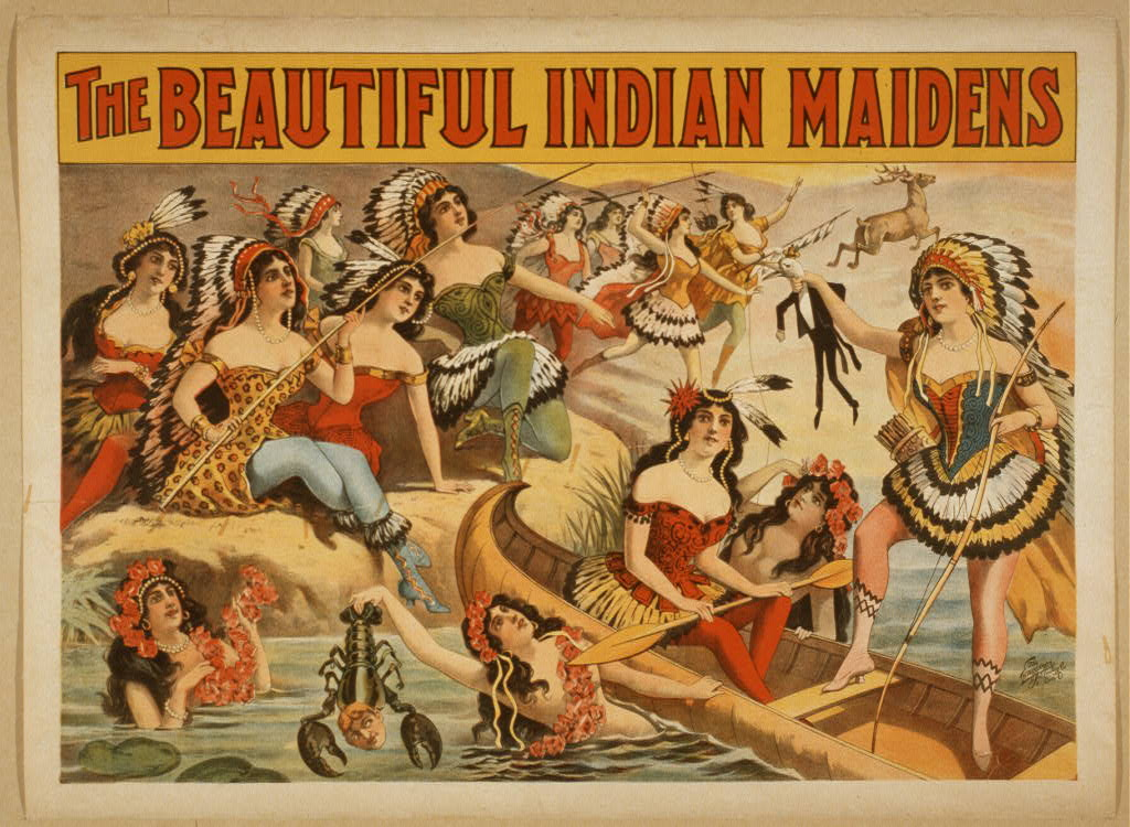 The beautifil Indian maidens