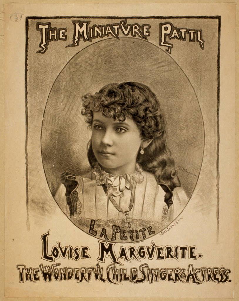The miniature Patti, Louise Marguerite the wonderful child singer & actress.