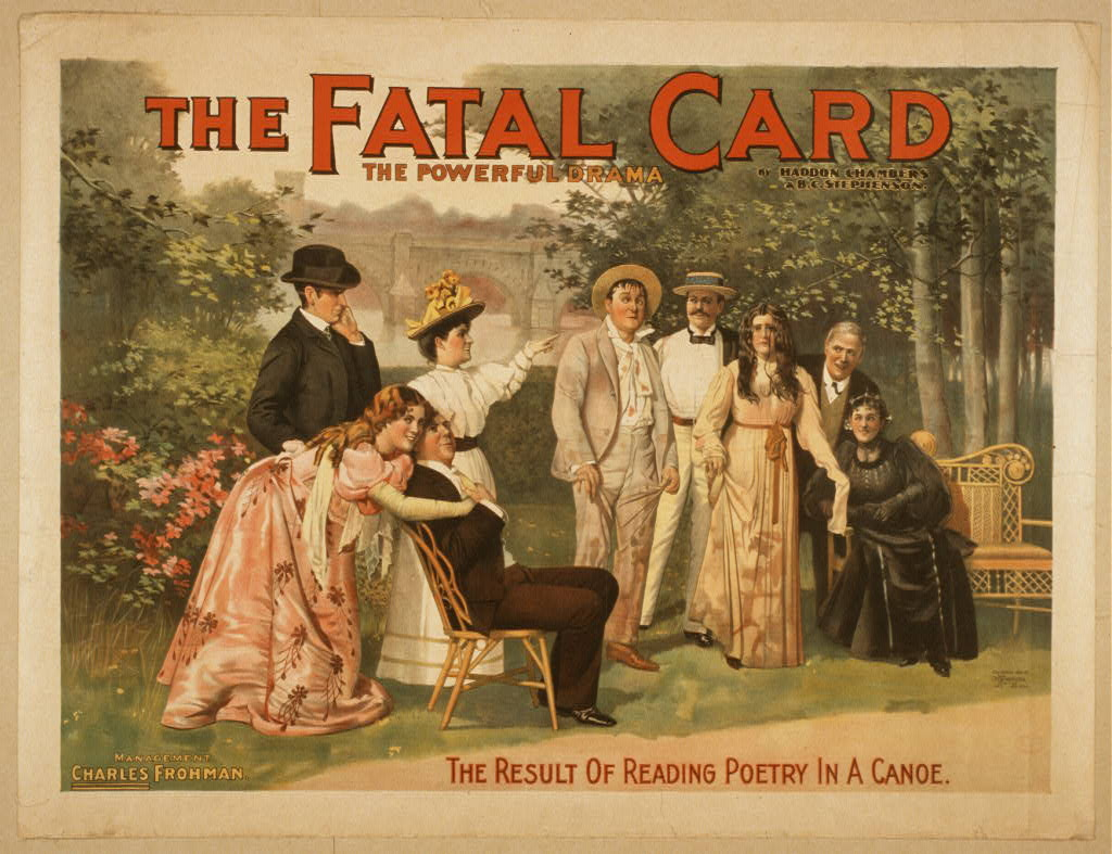 The fatal card the powerful drama : by Haddon Chambers & B.C. Stephenson.