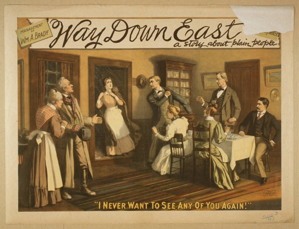 Way down East a story about plain people.