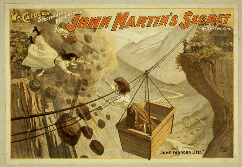 Wm. Calder's spectacular production, John Martin's secret by Sutton Vane.