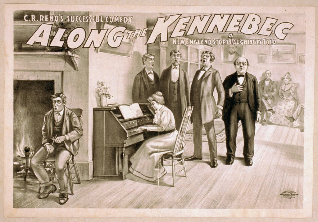 C.R. Reno's successful comedy, Along the Kennebec a New England story laughingly told.