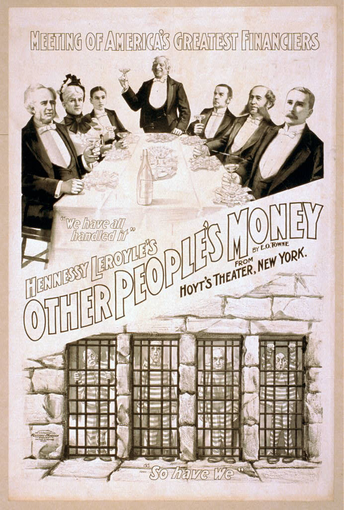 Hennessy Leroyle's Other people's money from Hoyt's Theater, New York : by E.O. Towne.