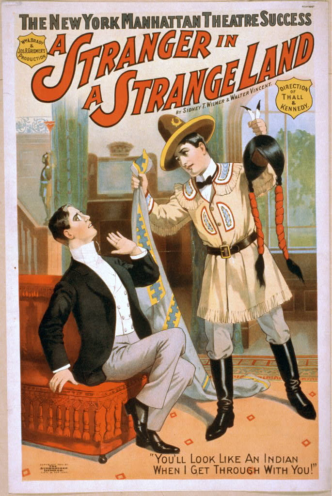 The New York Manhattan Theatre success, Wm. A. Brady & Jos. R. Grismer's production, A stranger in a strange land by Sidney T. Wilmer & Walter Vincent.