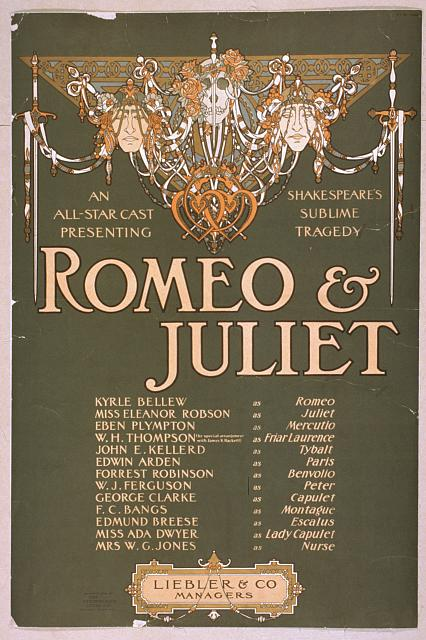 An all-star cast presenting Shakepeare's sublime tragedy, Romeo & Juliet