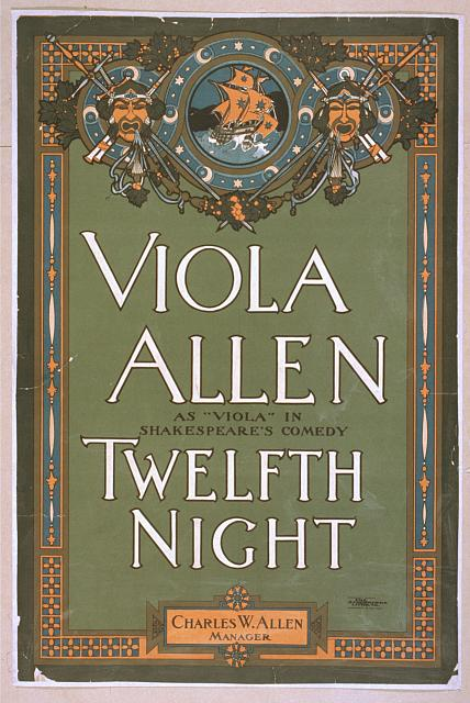 "Viola Allen as ""Viola"" in Shakespeare's comedy, Twelfth night"