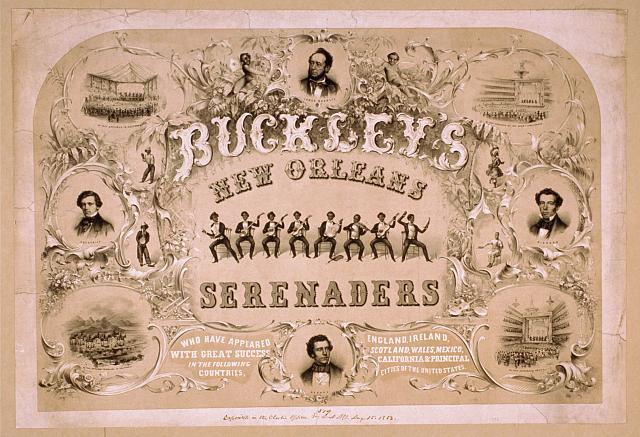 Buckley's New Orleans Serenaders who have appeared with great success in the following countries, England, Ireland, Scotland, Wales, Mexico, California & principal cities of the United States.