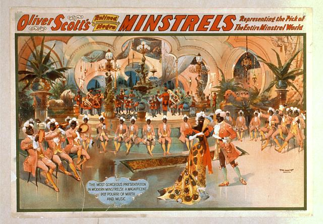 Oliver Scott's Refined Negro Minstrels representing the pick of the entire minstrel world.