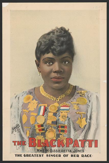 The Black Patti, Mme. M. Sissieretta Jones the greatest singer of her race.