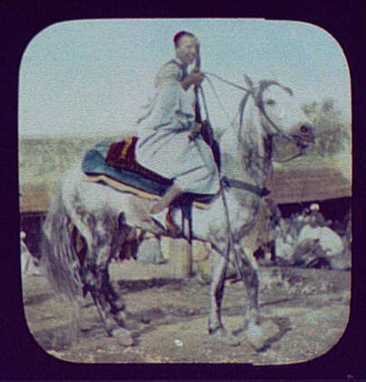 "N. Africa (?) man with rifle on horseback, ""An Arab Cavalier - Tuns"