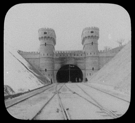 Tunnel at Kojack Pass - western end