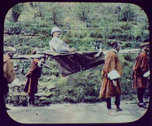 Darjeeling - Joseph G. Pangborn carried by 4 porters