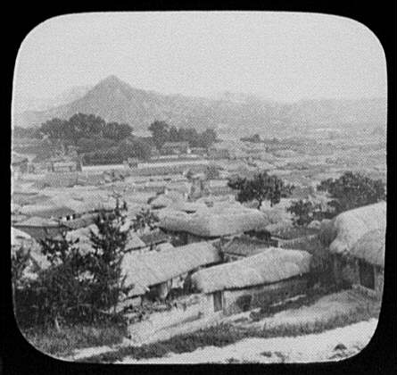 Seoul - panorama from the Russian Legation (rt. half)