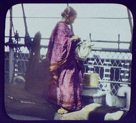 Woman on deck of ship