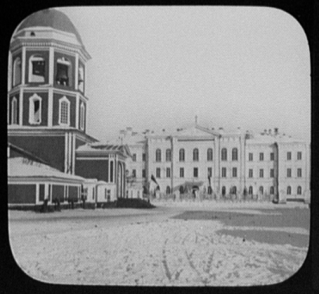 Irkutsk - church and the Bazanoff orphan asylum